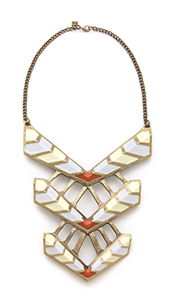 FELIKS+ADRIK Enamel Turritella Chest Plate Necklace