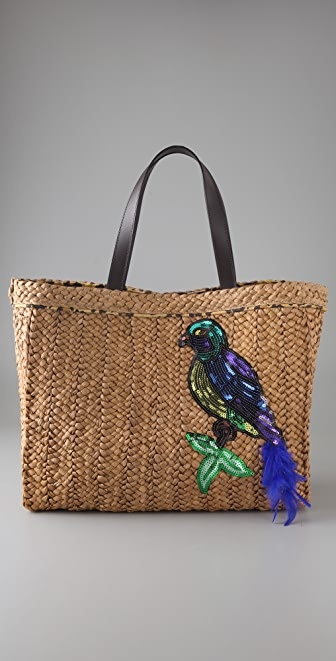 Felix Rey Birds of a Feather Basket Tote