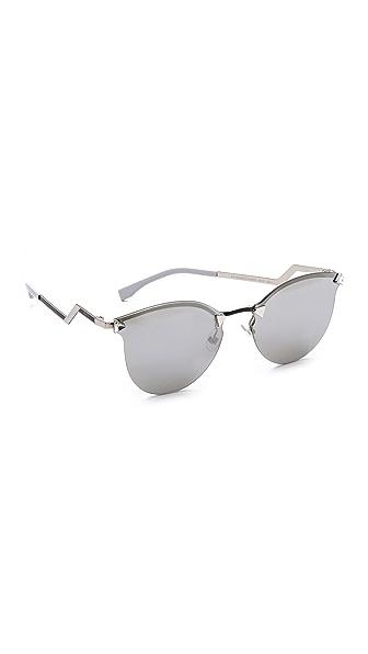Fendi Iridia Rimless Bottom Sunglasses