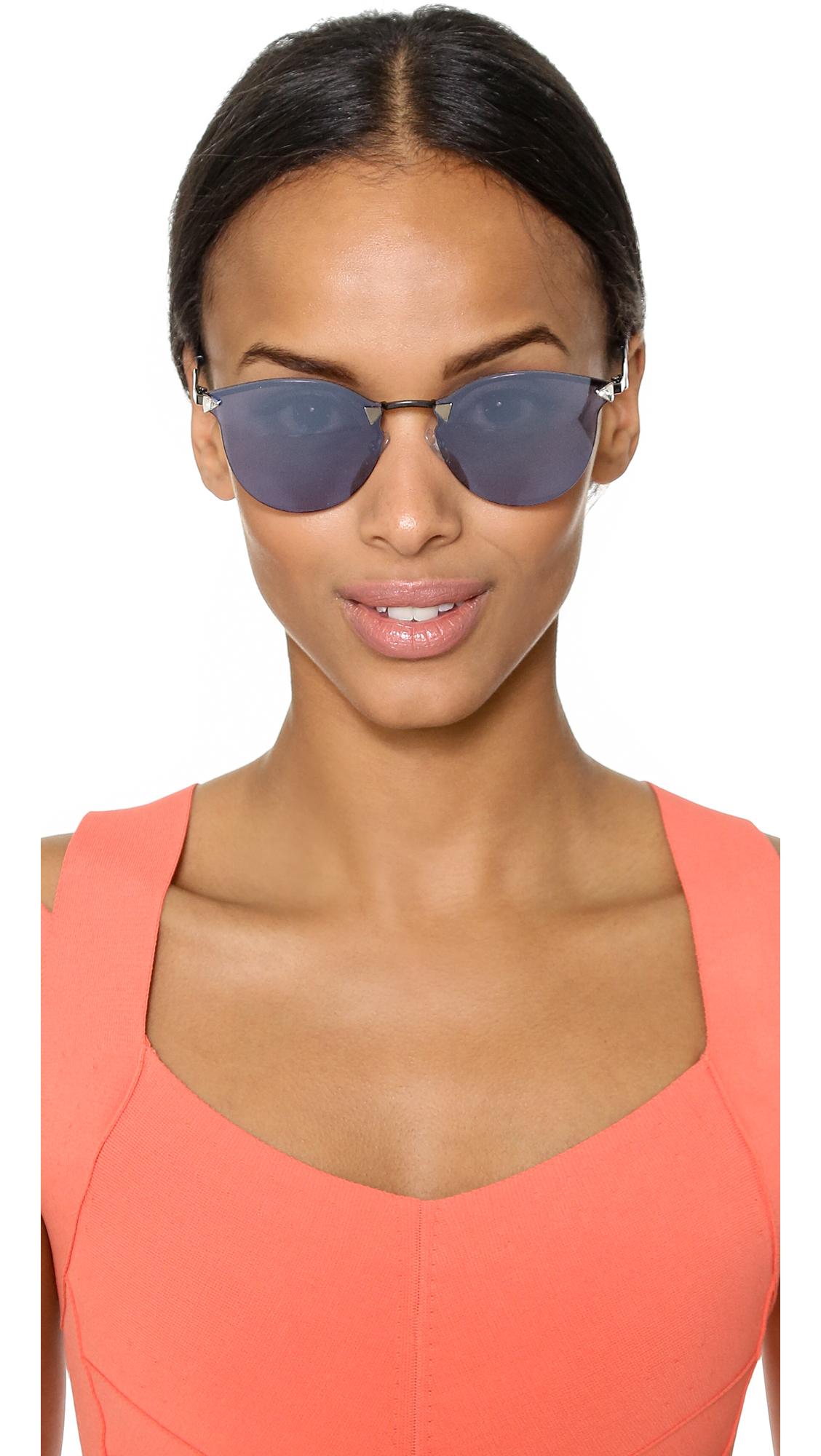 896659f9cc4 Fendi Iridia Rimless Bottom Sunglasses
