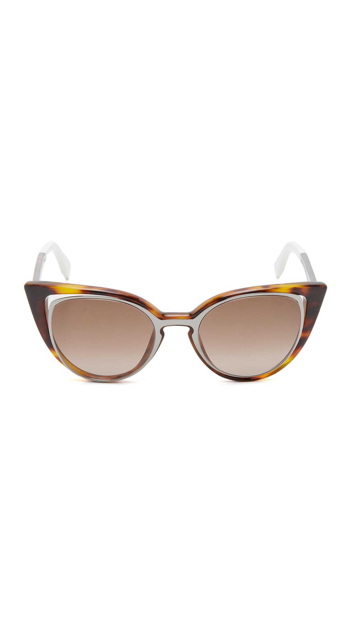 93c4621ad83f Fendi Cutout Cat Eye Sunglasses