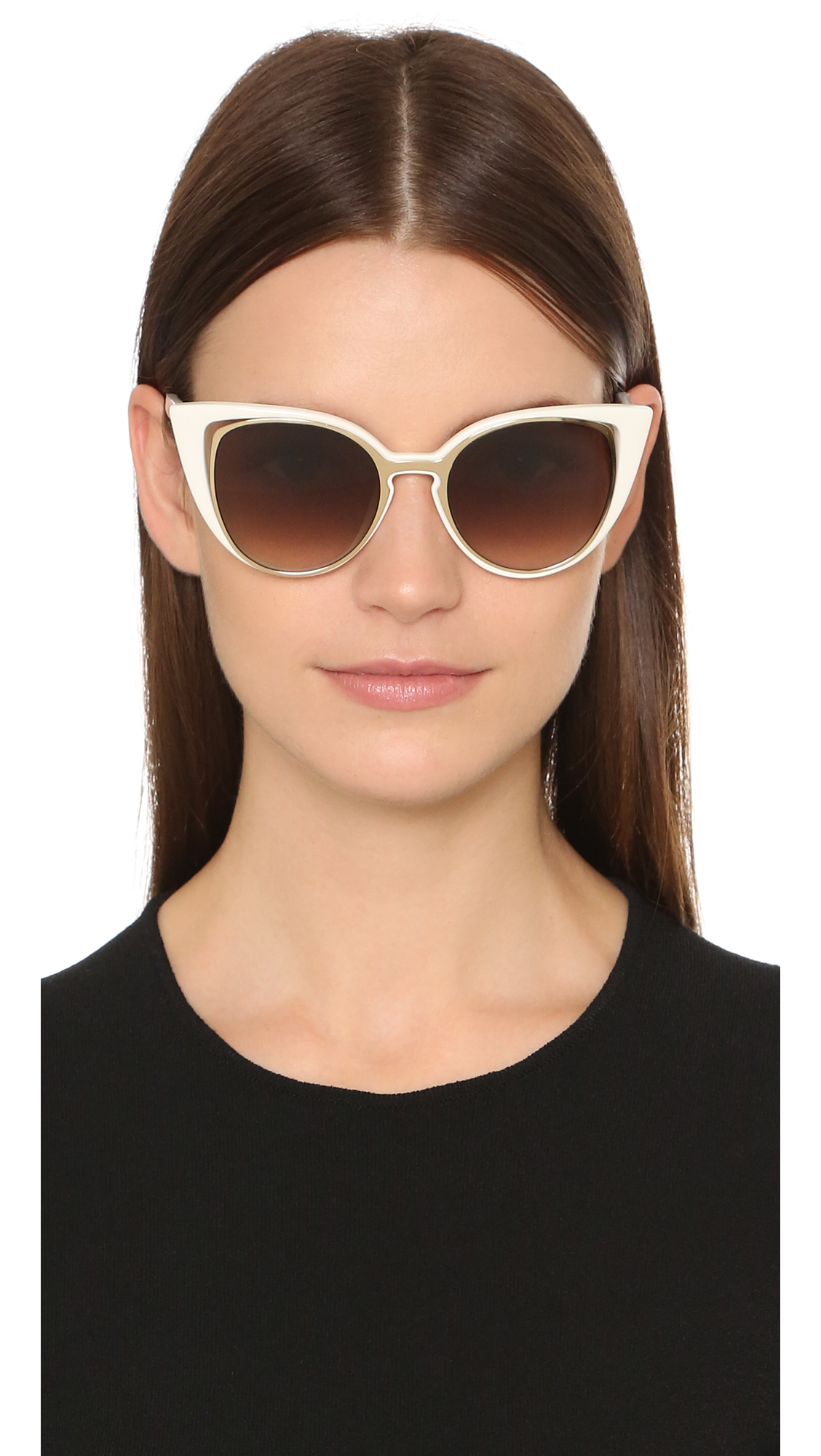 f5f88087c902 Fendi Cutout Cat Eye Sunglasses