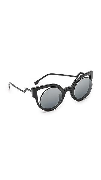 Fendi Round Cutout Sunglasses