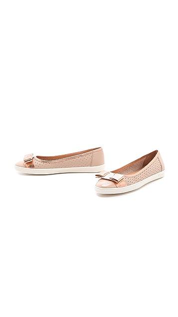 Salvatore Ferragamo Scarlet Ballet Sneaker Flats