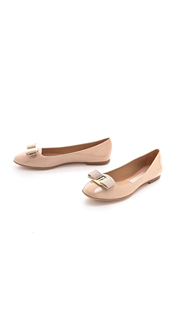 Salvatore Ferragamo Scott Bow Smoking Flats