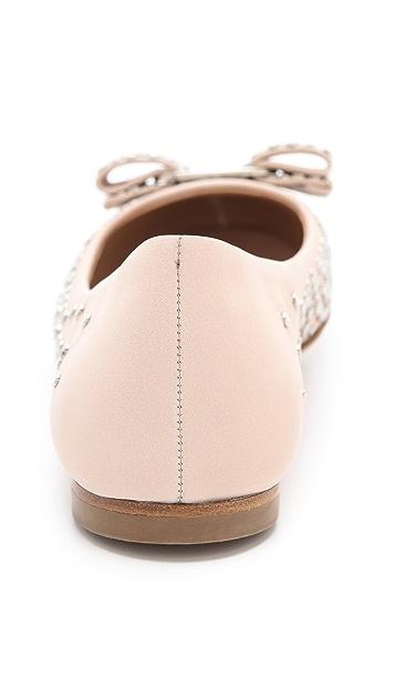 Salvatore Ferragamo Sayer Studded Ballet Flats