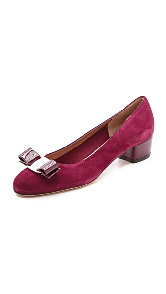 Salvatore Ferragamo Vara Bow Low Heels