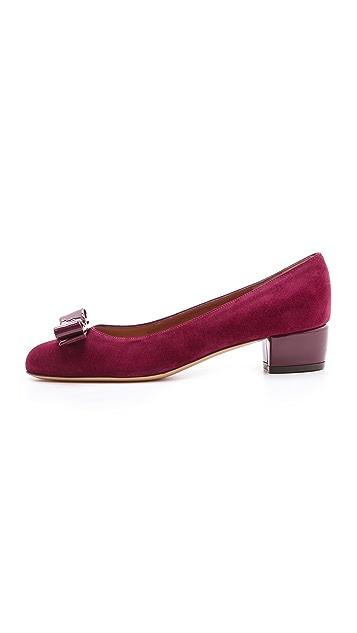 Salvatore Ferragamo Vara Bow Low Heels