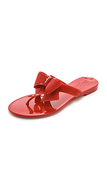 Salvatore Ferragamo Bali Jelly Thong Sandals