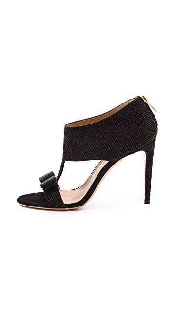 Salvatore Ferragamo Pellas Peep Toe Booties