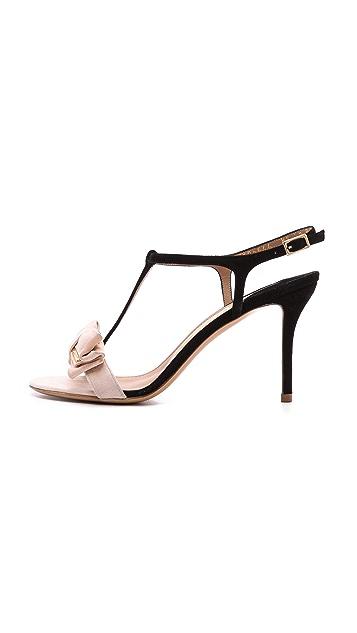 Salvatore Ferragamo Pavi T Strap Bow Sandals