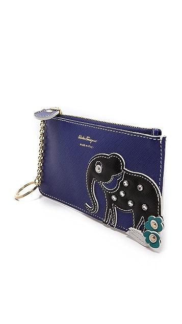 Salvatore Ferragamo Elephant Key Pouch