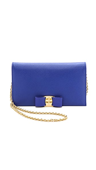 Salvatore Ferragamo Miss Vara Bow Chain Wallet / Bag