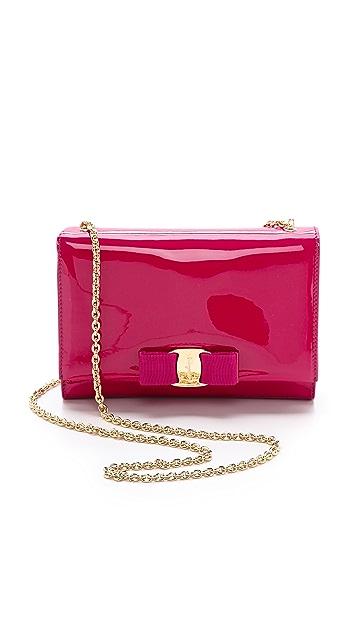 Salvatore Ferragamo Miss Vara Bow Patent Shoulder Bag