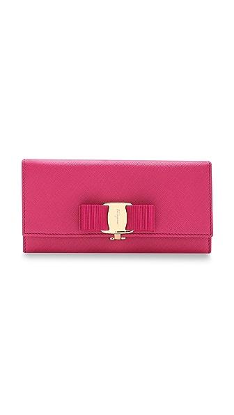 Salvatore Ferragamo Miss Vara Bow Flap Wallet