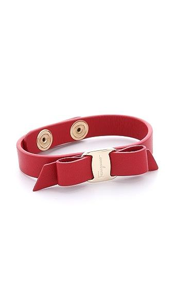 Salvatore Ferragamo Vara Bow Single Wrap Bracelet