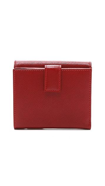 Salvatore Ferragamo Gancini Icona Vitello Small Wallet