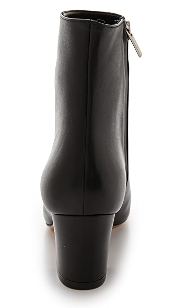 Salvatore Ferragamo Nury Cap Toe Booties