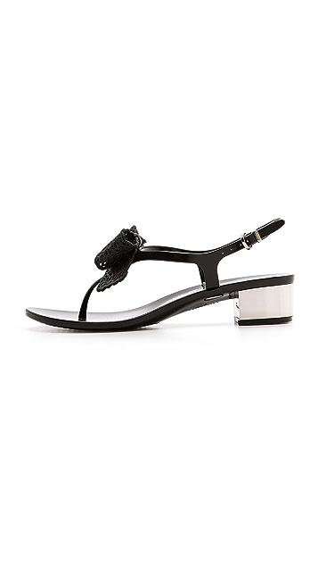 Salvatore Ferragamo Perala Low Heel Jelly Sandals