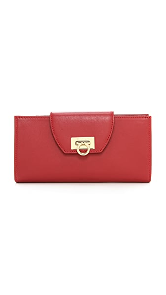 Salvatore Ferragamo Mediterraneo Light Flap Wallet