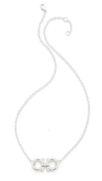 Salvatore Ferragamo Double Gancio Necklace