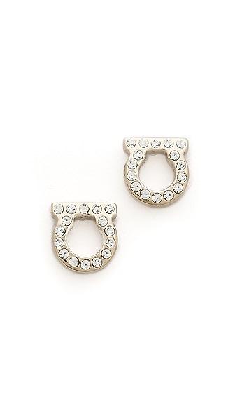 Salvatore Ferragamo Gancini Classic Earrings