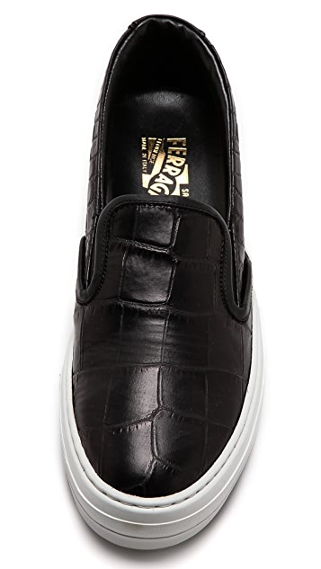 Salvatore Ferragamo Pacau Slip On Sneakers