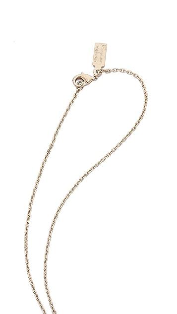 Salvatore Ferragamo Imitation Pearl Necklace