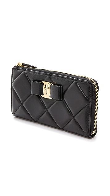Salvatore Ferragamo Miss Vara Bow Quilted Wallet
