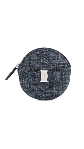 Salvatore Ferragamo Miss Vara Quilted Coin Purse