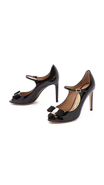 Salvatore Ferragamo Mood Peep Toe Pumps