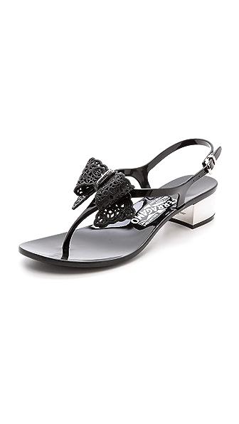 Kupi Salvatore Ferragamo online i prodaja Salvatore Ferragamo Perala Sling Jelly Sandals Nero haljinu online