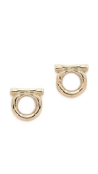 Salvatore Ferragamo Orecchini Piume Earrings