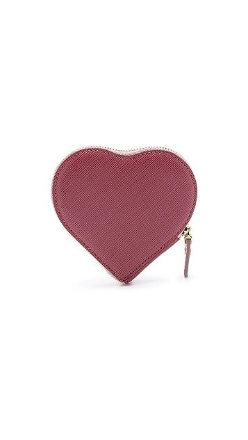 Salvatore Ferragamo Gancini Heart Coin Case