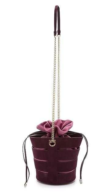 Salvatore Ferragamo Split Bucket Bag with Detachable Pouch
