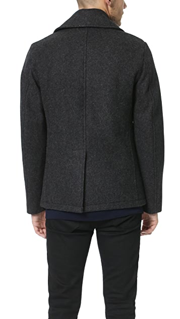Gerald & Stewart by Fidelity Wool Quilted Lined Peacoat