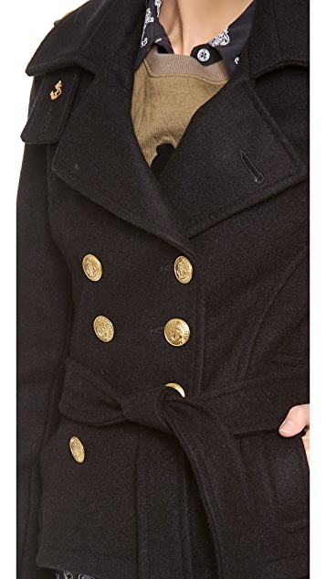 Gerald & Stewart by Fidelity Wool Pea Coat with Buttons