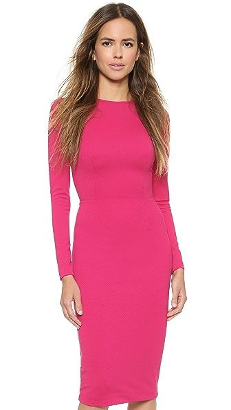 5Th & Mercer Long Sleeve Dress - Fuchsia