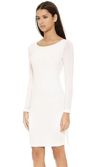 5th & Mercer Long Sleeve Fringe Dress