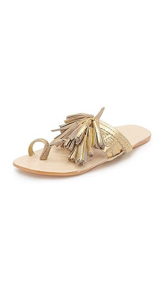 Figue Tassel Sandals - Gold