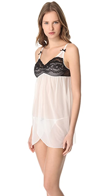 Fleur't Fleurt with Me Tulle Babydoll with G-String
