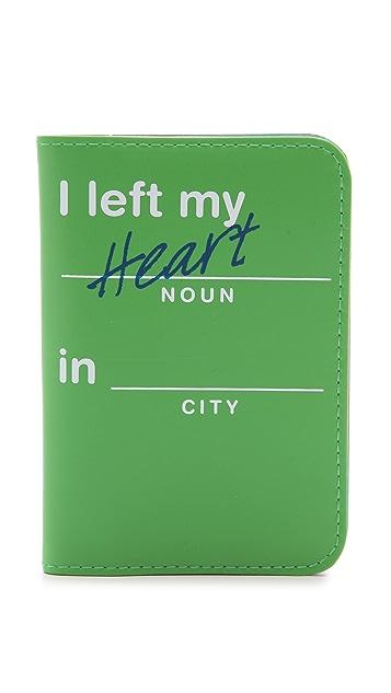 Flight 001 I Left My Heart Passport Case