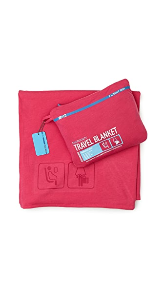 Flight 001 Emergency Travel Blanket - Pink
