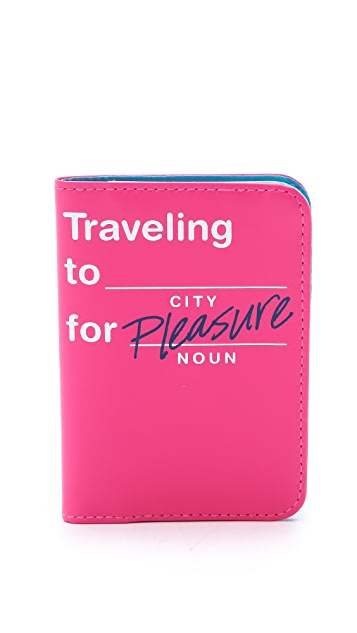 Flight 001 Traveling To... Passport Case