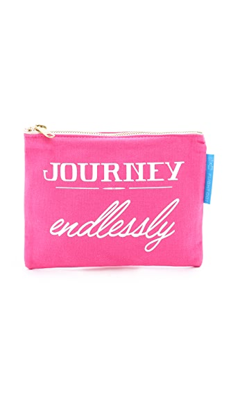 Flight 001 Journey Endlessly Pouch - Pink