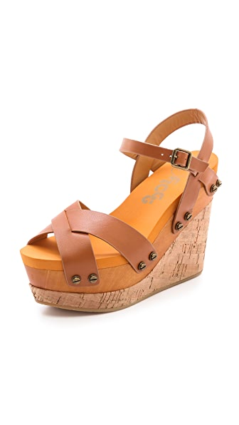 Flogg Lexi Cork Wedge Sandals