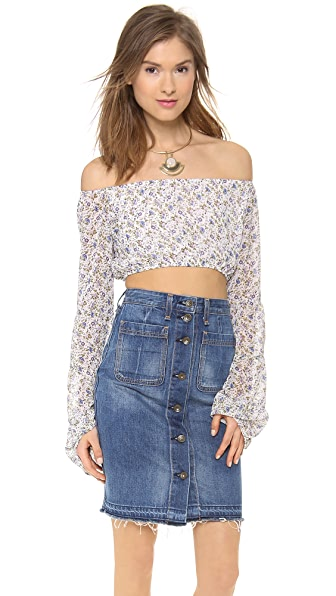 For Love & Lemons La Flor Crop Top