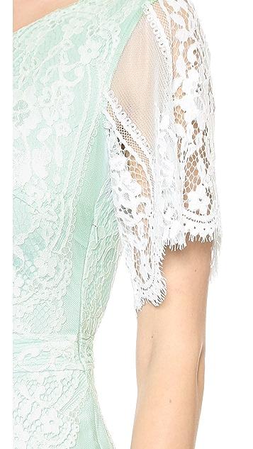 For Love & Lemons San Marcos Lace Mini Dress
