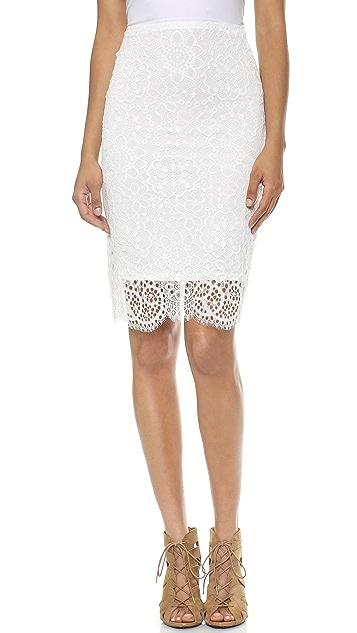 For Love & Lemons Holly Pencil Skirt