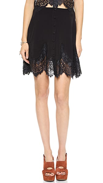 For Love & Lemons Gilly Girl Miniskirt